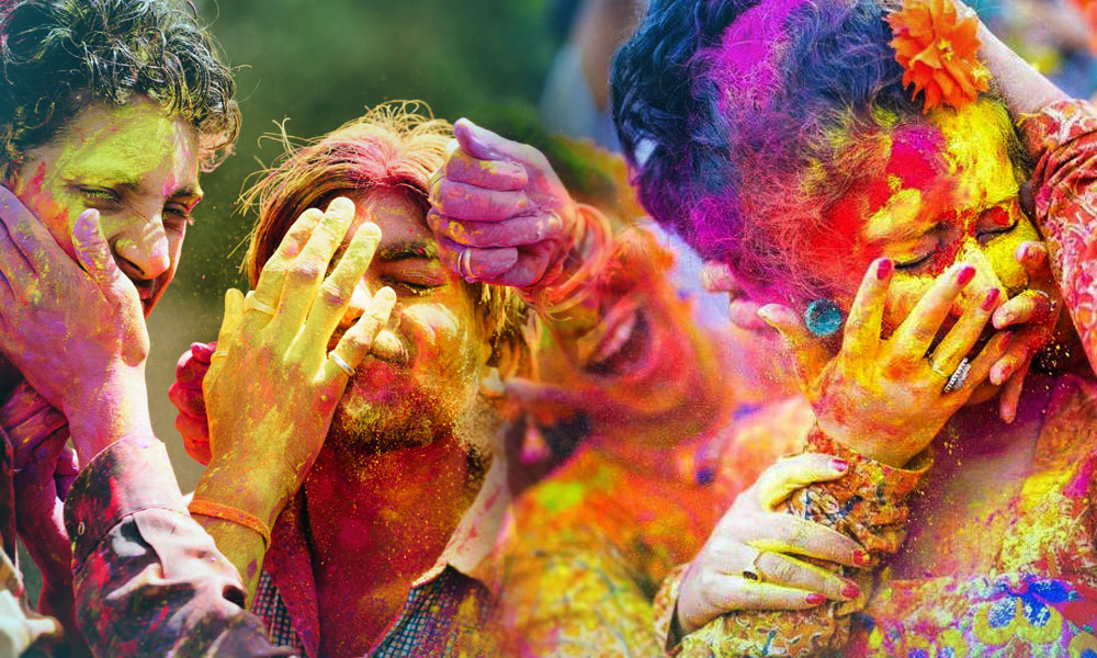 Colorful Holi in India